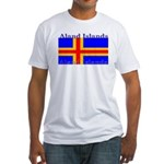 Aland Islands Flag Fitted T-Shirt