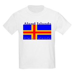 Aland Islands Flag Kids T-Shirt