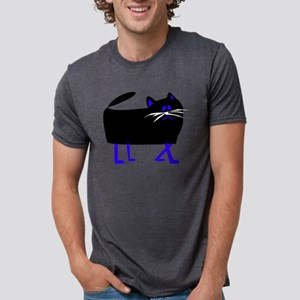 black cat blue legs T-Shirt