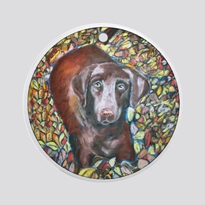 """Emmit"" a Labrador Retriever Keepsake (Round)"