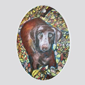 """Emmit"" a Labrador Retriever Keepsake (Oval)"