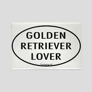 Golden Retriever Lover Rectangle Magnet