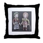 Vintage Cowboy and cowgirl Throw Pillow