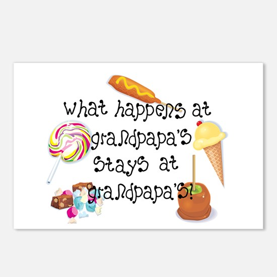 What Happens at Grandpapa's... Postcards (Package