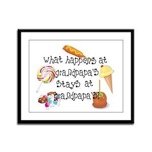 What Happens at Grandpapa's... Framed Panel Print