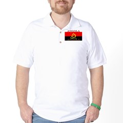 Angola Angolan Flag Golf Shirt