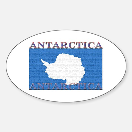Antarctica Flag Oval Decal