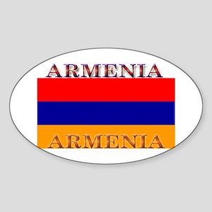 Armenia Armenian Flag Oval Sticker