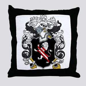 Holmes Family Crest Throw Pillow