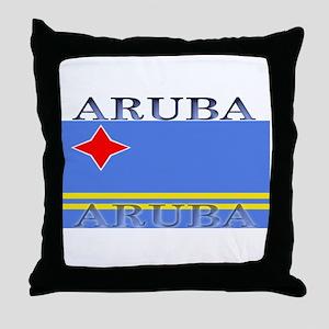 Aruba Aruban Flag Throw Pillow