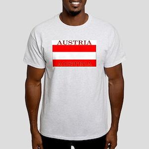 Austria Austrian Flag Ash Grey T-Shirt