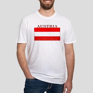 Austria Austrian Flag Fitted T-Shirt