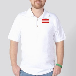 Austria Austrian Flag Golf Shirt