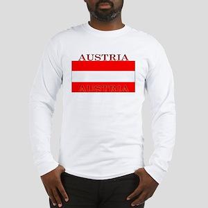 Austria Austrian Flag Long Sleeve T-Shirt