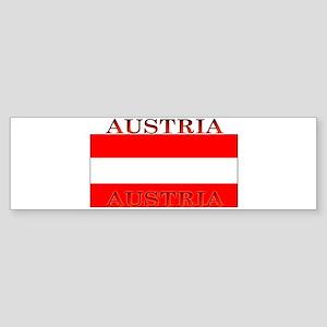 Austria Austrian Flag Bumper Sticker