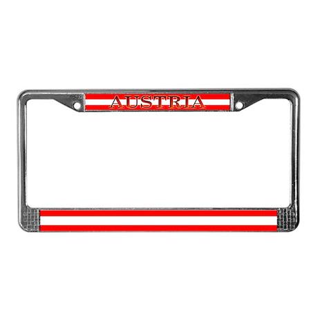 Austria Austrian Flag License Plate Frame
