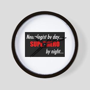 Superhero Neurologist Wall Clock