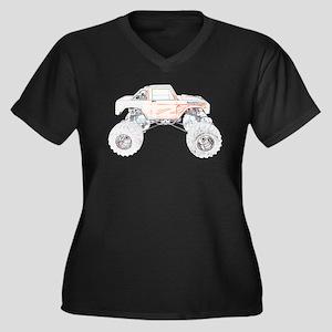 Monster Truck - Sideways Women's Plus Size V-Neck