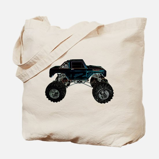 Monster Truck - Sideways Tote Bag