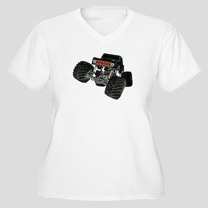 Monster Crawler Women's Plus Size V-Neck T-Shirt