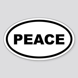 PEACE Euro Oval Sticker