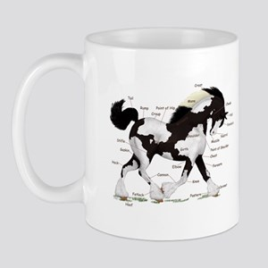 Black Gypsy Horse Anatomy Mug