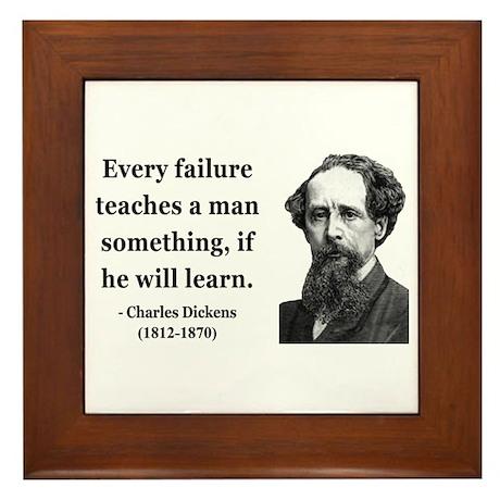 Charles Dickens 25 Framed Tile