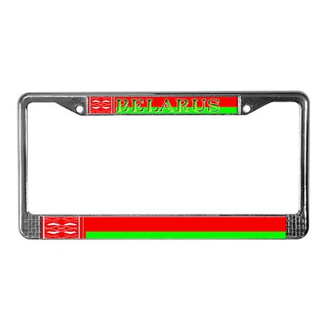 Belarus Belarussian Flag License Plate Frame