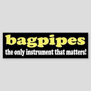 Funny Bagpipes Bumper Sticker
