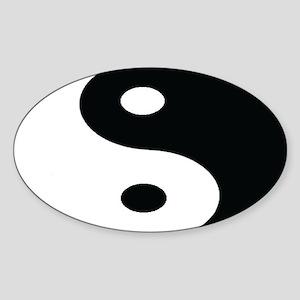 Yin-Yang Euro Oval Sticker