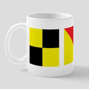 LOL Nautical Flags Mug