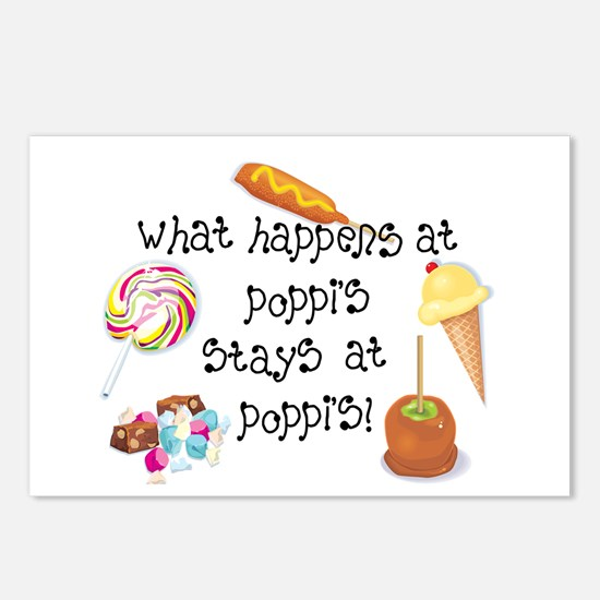 What Happens at Poppi's... Postcards (Package of 8