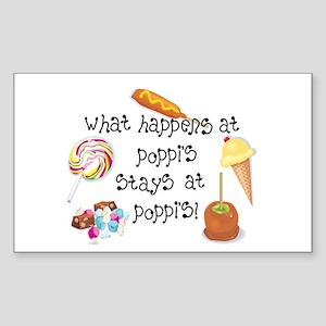 What Happens at Poppi's... Rectangle Sticker