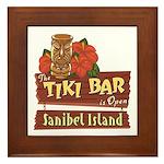 Sanibel Tiki Bar - Framed Tile