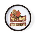 Sanibel Tiki Bar - Wall Clock