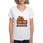 Sanibel Tiki Bar - Women's V-Neck T-Shirt