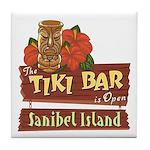 Sanibel Tiki Bar - Tile Coaster