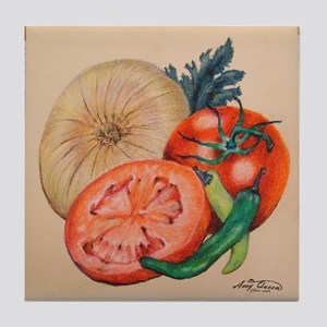 Itallian Veggies Tile Coaster