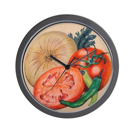 Itallian Veggies Wall Clock