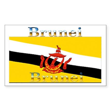 Brunei Flag Rectangle Sticker