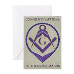 Masonic Congratulations Greeting Card