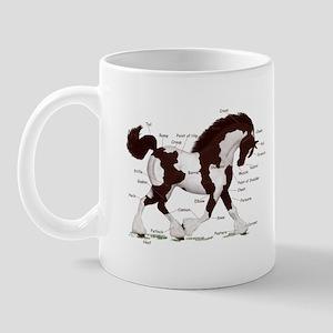 Black Tobiano Horse Anatomy Mug