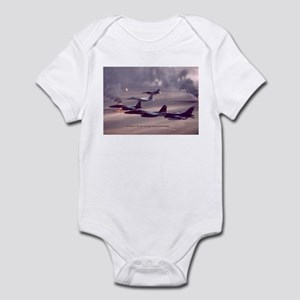F-16 Falcon F-15 Eagle Infant Bodysuit