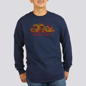 Dragon Ninja Bassoonist Long Sleeve Dark T-Shirt