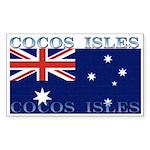 Cocos Islands Rectangle Sticker