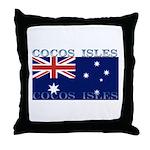 Cocos Islands Throw Pillow