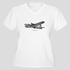 B-17 Flying Fortress Women's Plus Size V-Neck T-Sh