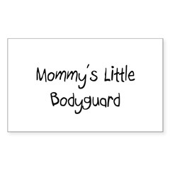 Mommy's Little Bodyguard Rectangle Decal