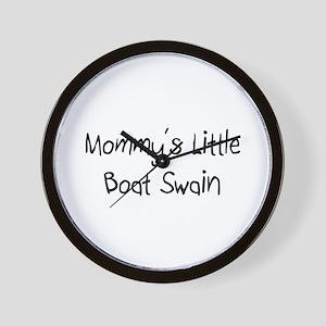 Mommy's Little Boat Swain Wall Clock