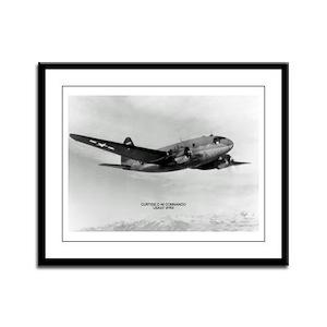 C-46 Commando Framed Panel Print
